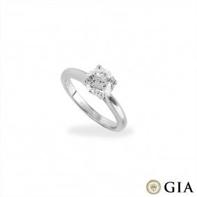 Round Brilliant Cut Platinum Diamond Ring 1.77ct E/VS1